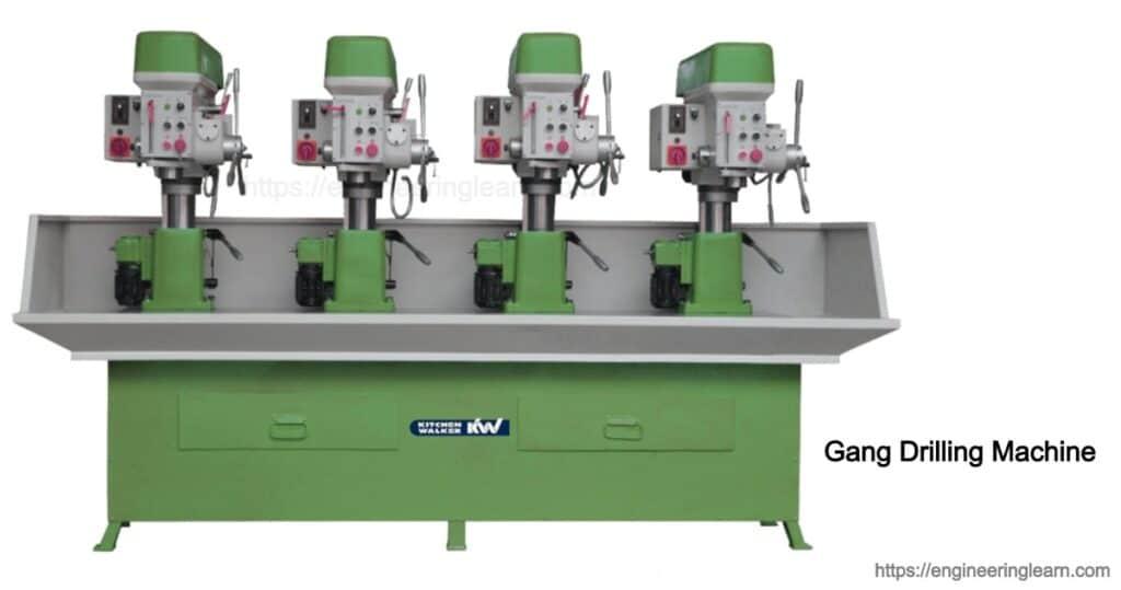 Gang drilling machines